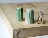 Made to Order - Set of two small pottery light pulls in your choice of colour