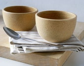 Made to order - Set of six small stoneware soup bowls choose your colour