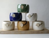 Choose your colour - Autumn leaf yarn bowl, hand thrown custom pottery yarn bowl
