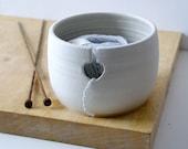 DISPATCHING ASAP - Love heart yarn bowl glazed in vanilla cream