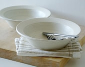 Made to order - Set of four stoneware pottery pasta bowls glazed in your choice of colour