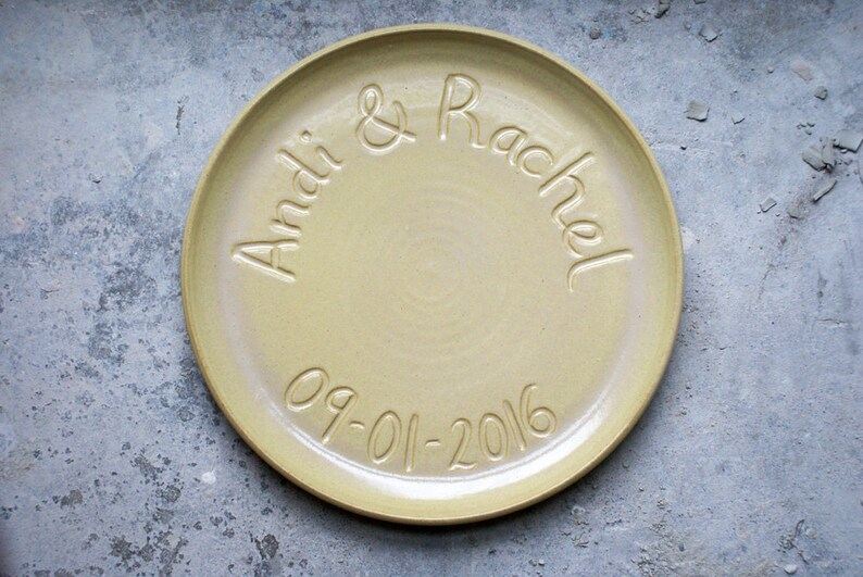 Made to order  Large commemorative platter with coupe style image 0