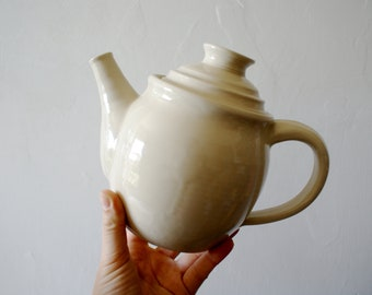 Handmade stoneware teapot - glazed in simply clay