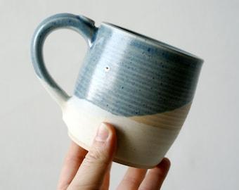 Slight Seconds - Two tankard style stoneware pottery tea mugs