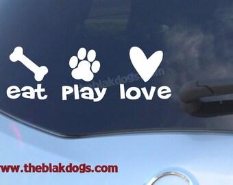 "Eat Sleep Akitas Sticker *G770* 8/"" vinyl Akita dog training sled breeding collar"