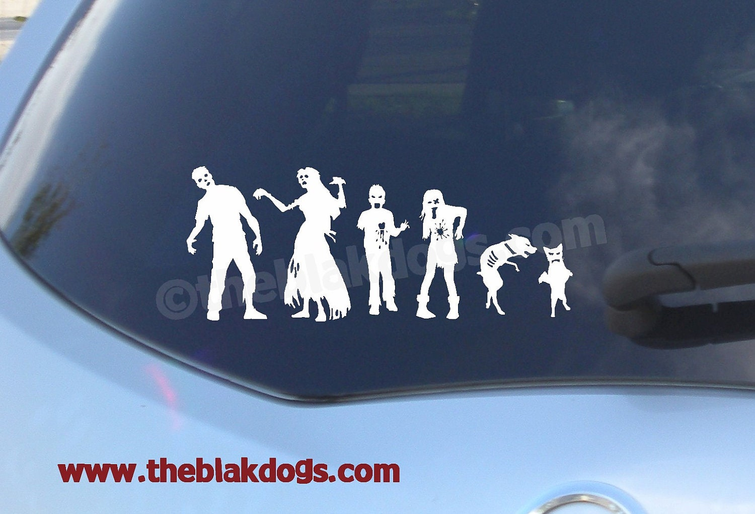 Zombie stick figure family custom sticker vinyl sticker car etsy