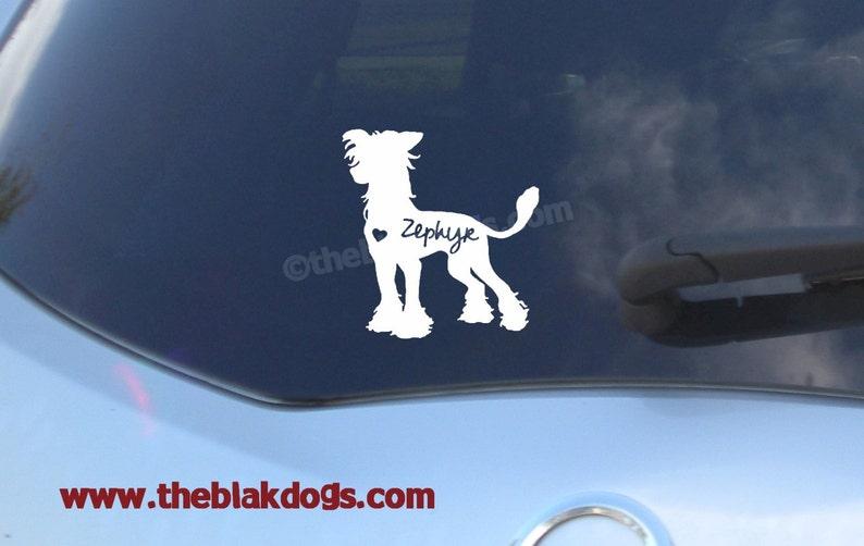 Chinesischer Schopfhund Silhouette Vinyl Aufkleber Auto Aufkleber  personalisierte
