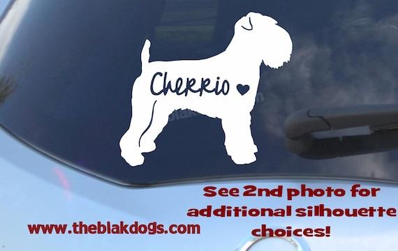 Vinyl Sticker Car Decal Personalized Norfolk Terrier Silhouette