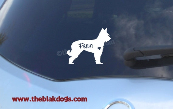 Custom Silhouette of your own dog Vinyl Sticker Car Decal Personalized