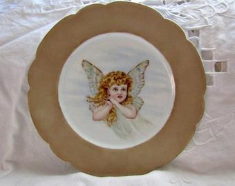 Butterfly Girl Plate-She Has Wings! Haviland & Co.