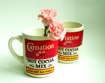Carnation Hot Cocoa Mugs - Set of Two