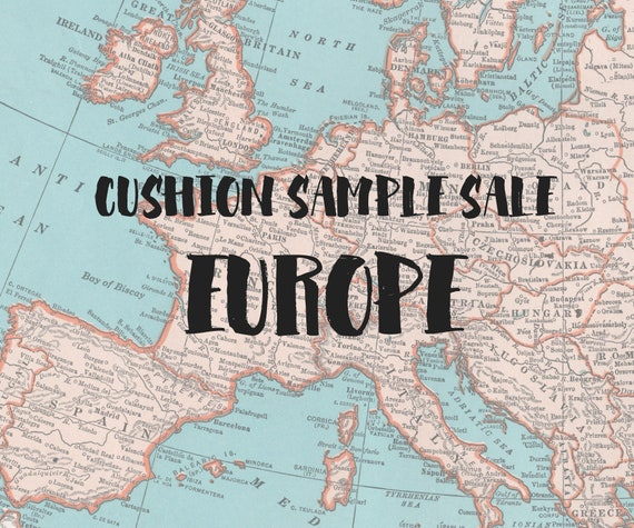 Map Of Europe For Sale.Europe Map Cushion Sample Sale Ready To Ship Etsy