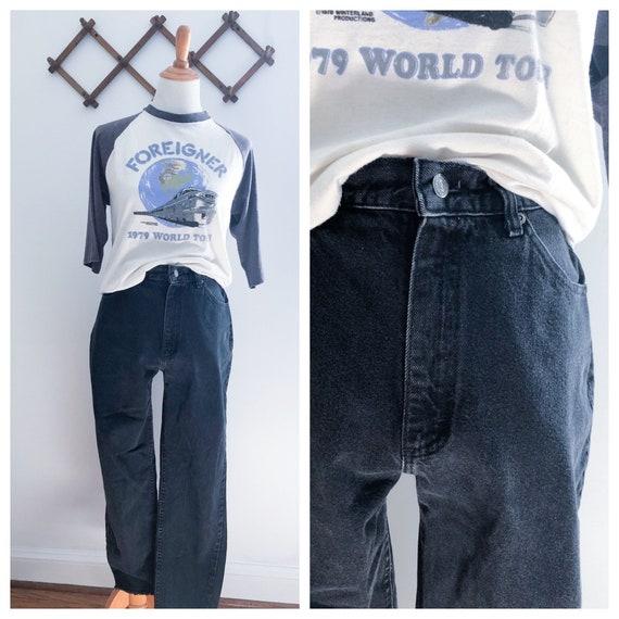 """Vintage 90s Lee Black High Rise Mom Jeans 26"""""""