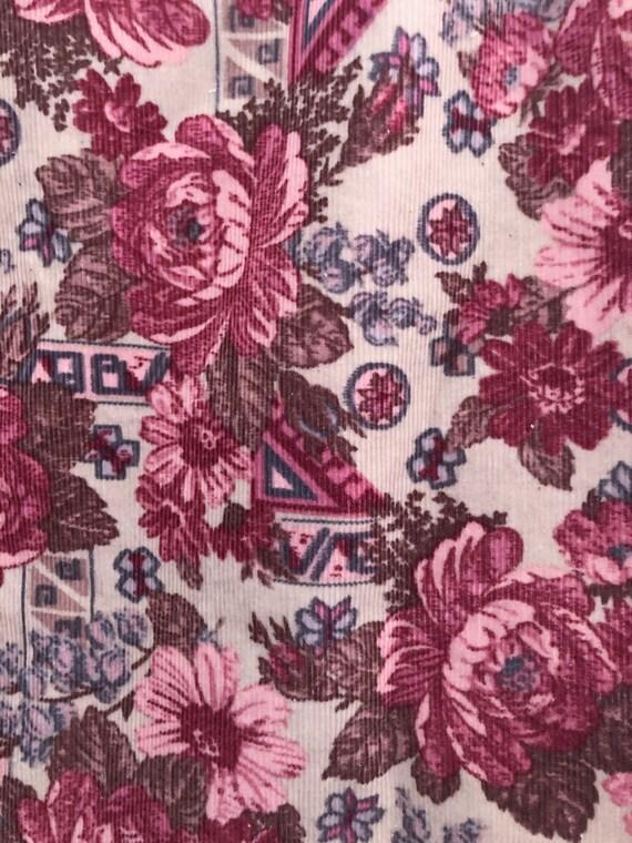 Vintage 90s Laura Ashley Pink Rose Corduroy Mini … - image 7