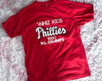 Vintage 80s Whiz Kids Philadelphia Phillies Tee Medium