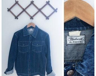 Vintage 70s Madewell Dark Denim Jacket Small/Medium