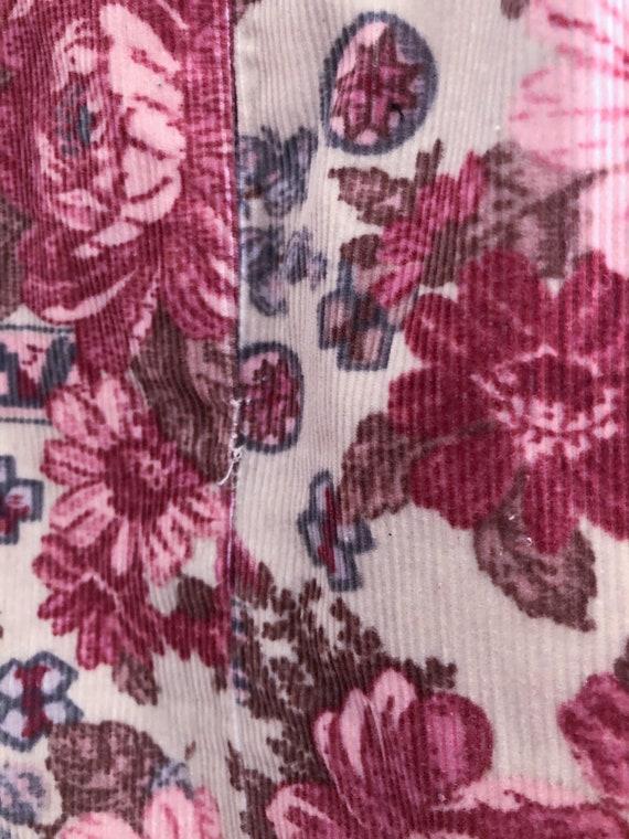 Vintage 90s Laura Ashley Pink Rose Corduroy Mini … - image 9
