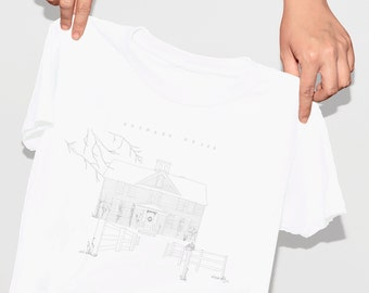 louisa may alcott orchard house shirt . hand drawn little women tee