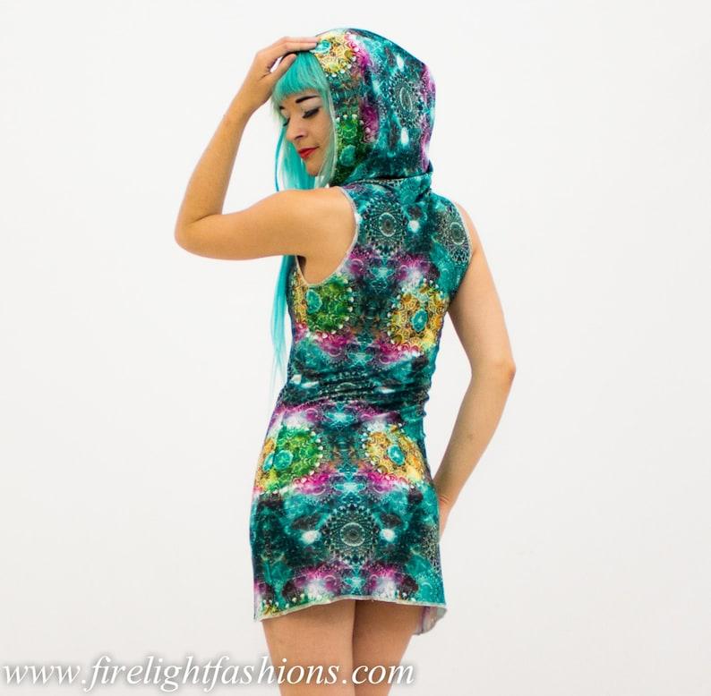 boho rave womens festival short dress hippie yoga hoodie hooded dress fashion burning man doof 16 colors top with hood