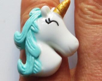 Unicorn head ring