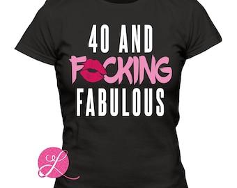 20, 30, 40, 50 and F*ucking Fabulous Printed Tshirt | 20th birthday | 30th birthday | 40th birthday thsirt
