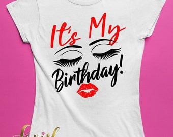 It's My Birthday Lashes Tshirt
