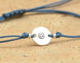 At sign sterling silver bracelet.Computer bracelet