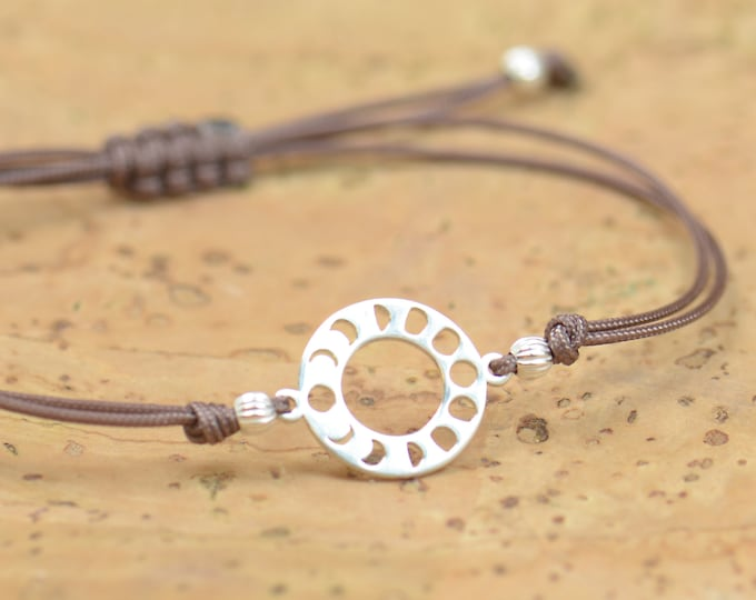 Moon phases charm bracelet-Sterling silver