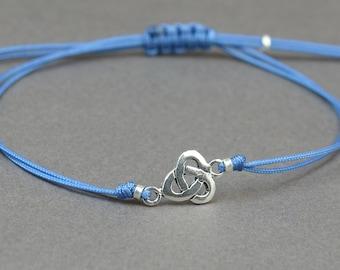 Sterling silver celtic knot charm bracelet.Mens gift.unisex bracelet