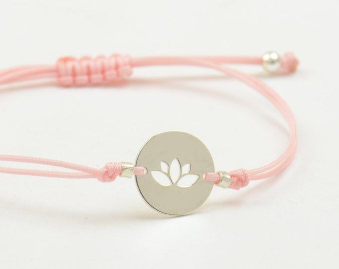 Lotus flower -  Sterling silver bracelet