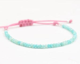 Amazonite bracelet.Blue bracelet.Gemstones bracelet.Turquoise color.Gift for her