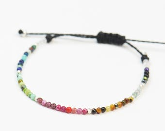 Multiple gemstones bracelet