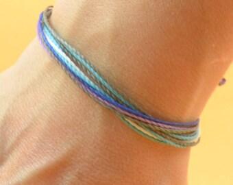 Multiple thread mens bracelet -  Mens cord bracelet - 10 threads personalize bracelet,boyfriend,groomsmen,mens gift,father