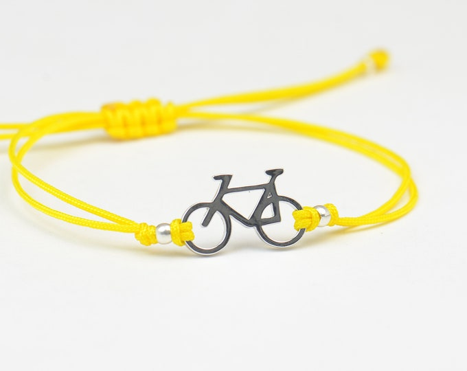Sterling silver bicycle charm bracelet.Mens gift.unisex bicycle bracelet
