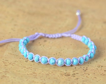 SALE- Turquoise macrame woven bracelet