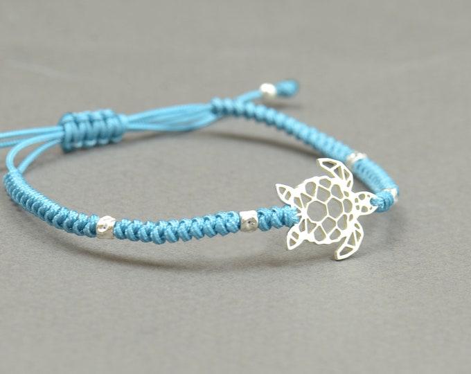 Sterling silver turtle bracelet,nature bracelet,ocean,sea,animal,earth.