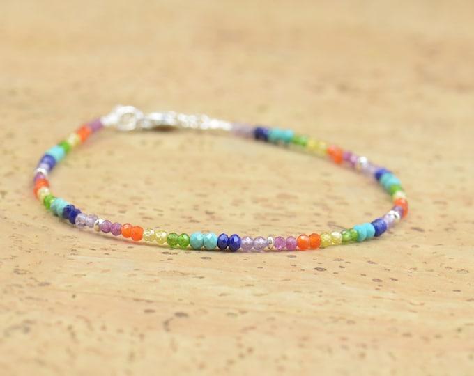 7 chakras Bracelet,Multiple Gemstones.Galaxy bracelet.Constellation bracelet,Universe,chakras colors karma Rainbow bracelet.Exoplanets