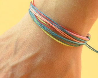 Multiple thread mens or women bracelet -  Mens cord bracelet - 10 threads personalize bracelet,boyfriend,groomsmen,mens gift,father