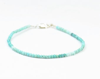 Turquoise faceted  beads bracelet.Real Turquoise.Degraded turquoise.Women bracelet.Blue Bracelet