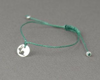 SALE- Sterling silver little snail  bracelet