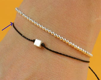 SALE-Dice bracelet-Sterling silver
