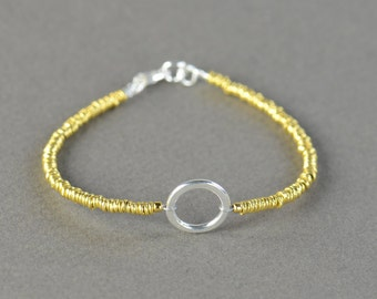 Karma Sterling silver bracelet, eternity bracelet, friendship bracelet,delicate  bracelet, circle bracelet, Karma bracelet,gold bracelet