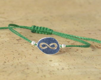 SALE-Sterling Silver Karma Infinity bracelet , friendship