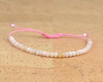 Pink opal bracelet