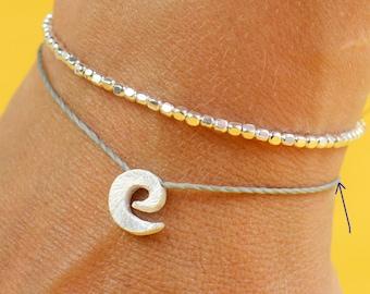 SALE-Spiral charm bracelet