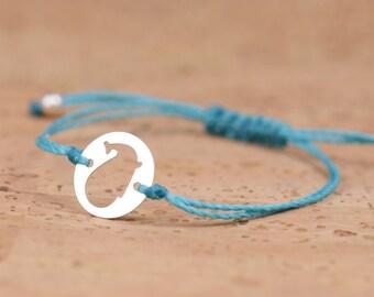 SALE-Sterling silver whale bracelet