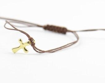 Vermeil  cross bracelet
