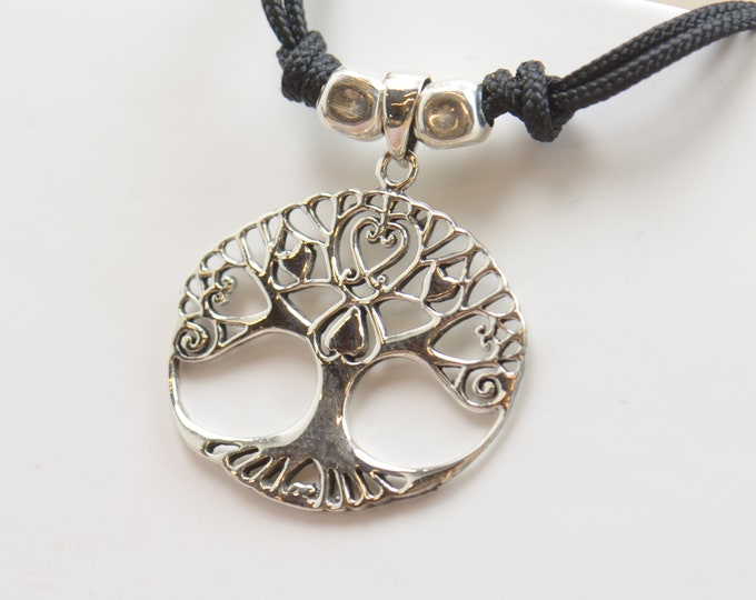 Sterling silver Tree of life charm necklace pendant-Sterling silver.Mens or women.Nature