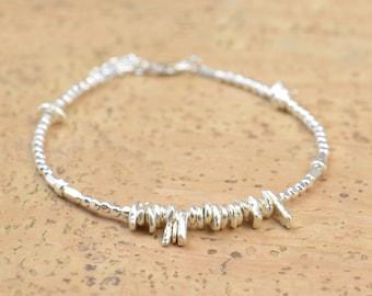 Sterling silver beads  bracelet