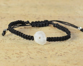 SALE- Druzy agate bracelet.Macrame bracelet